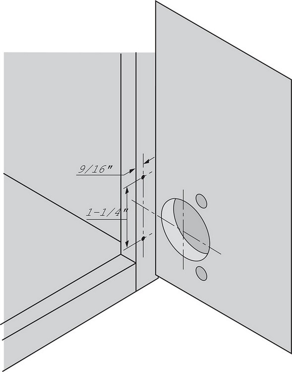 Blum 133.0240 110 Degree Compact 33 Side Mount Face Frame Plate, 1-3/8 Overlay :: Image 50
