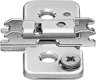 Blum 173H9130 3mm Cam Adjustable Baseplate for Wood Screws or System Screws :: Image 10