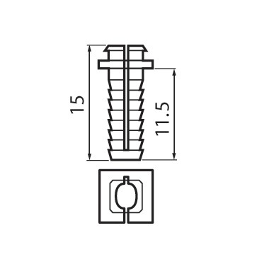 Blum 174H7100E8 5mm X 11.5mm Dowel for 174H7100E Mounting Plate :: Image 30