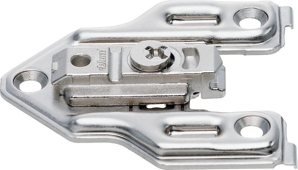 Blum 175H6000 0mm Face Frame Adapter Plate, Cam Adj Height, Center Mount, Screw-on :: Image 10