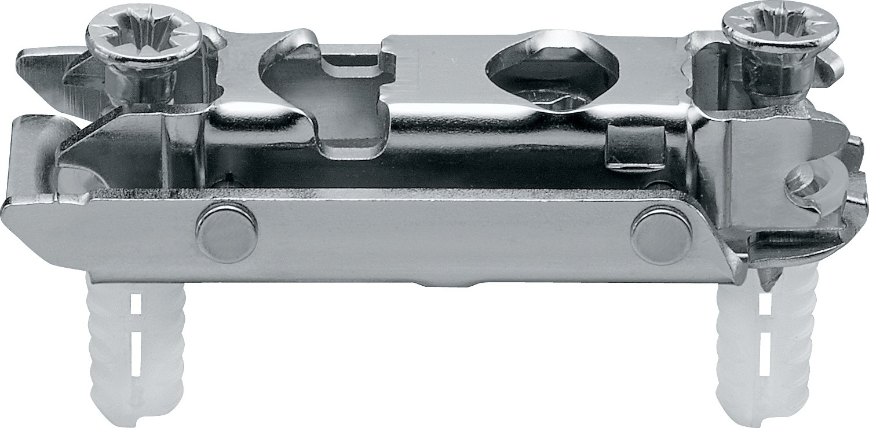 Blum 177H3100E CLIP Series Frameless Cam Adjustable 0mm Inline Mounting Plate, EXPANDO Dowels :: Image 10