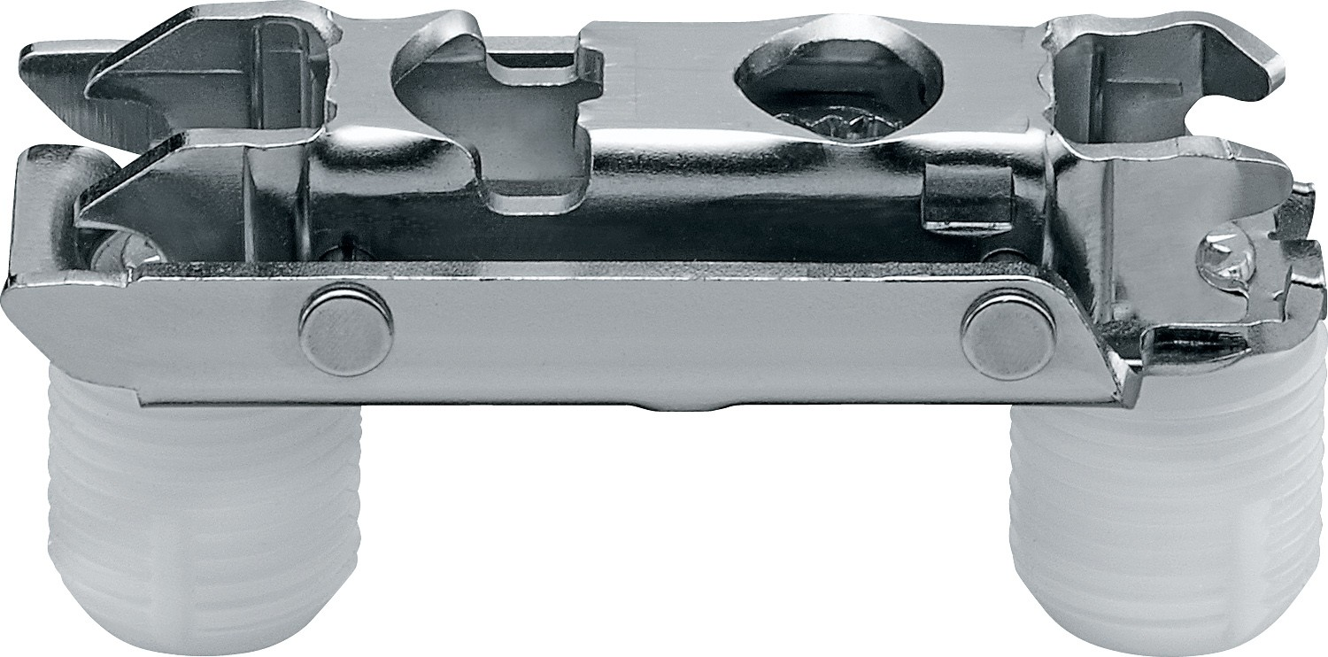 Blum 177H3100 CLIP Series Frameless Cam Adjustable 10mm Inline Mounting Plate, Press-in Dowels :: Image 10
