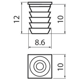 Blum 34.3582.01 8mm X 11mm Dowel :: Image 20