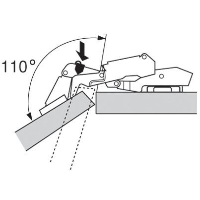 Blum 70T7503N 110 Degree Restriction Clip, Dust Grey :: Image 70