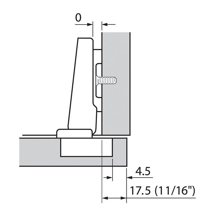 Blum 73B3580 110 Degree Plus BLUMOTION Hinge, Soft-Close, Full Overlay, Dowel :: Image 150