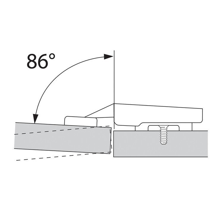Blum 74.1103, 86° Restriction Clip, Black :: Image 10
