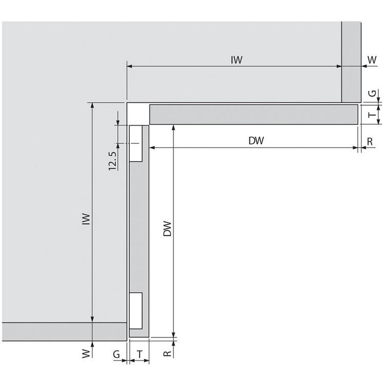 Blum 79T8500.10 60 Degree CLIP Top Bi-Fold Hinge, Self-Close, Screw-on :: Image 120