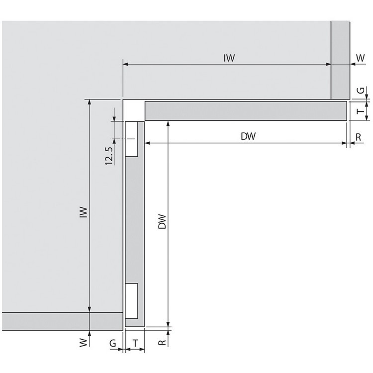 Blum 79T8530.10 60 Degree CLIP Top Bi-Fold Hinge, Self-Close, Dowel :: Image 130