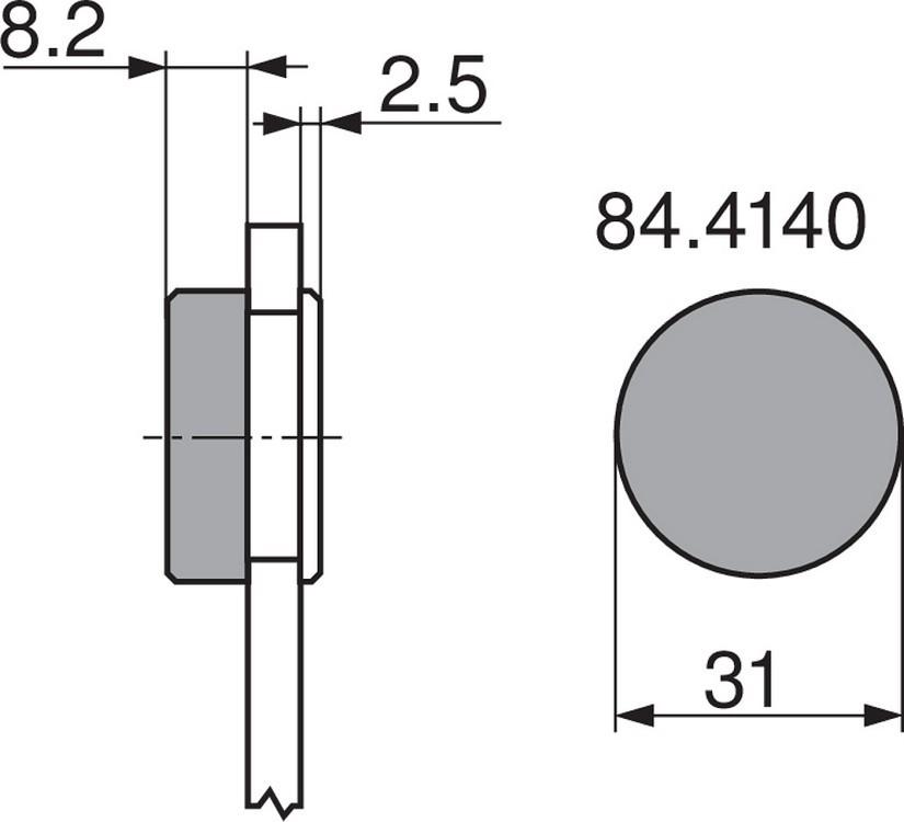 Blum 844140S Round Cover Cap, Black for Glass Door Hinges :: Image 20