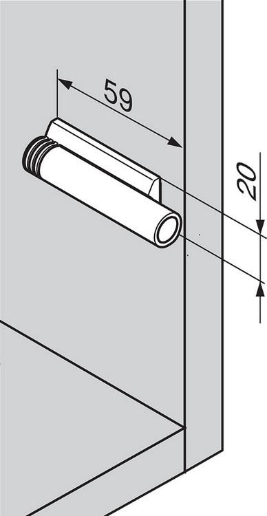 Blum 970.5201 0mm Inline Adapter Plate, :: Image 90