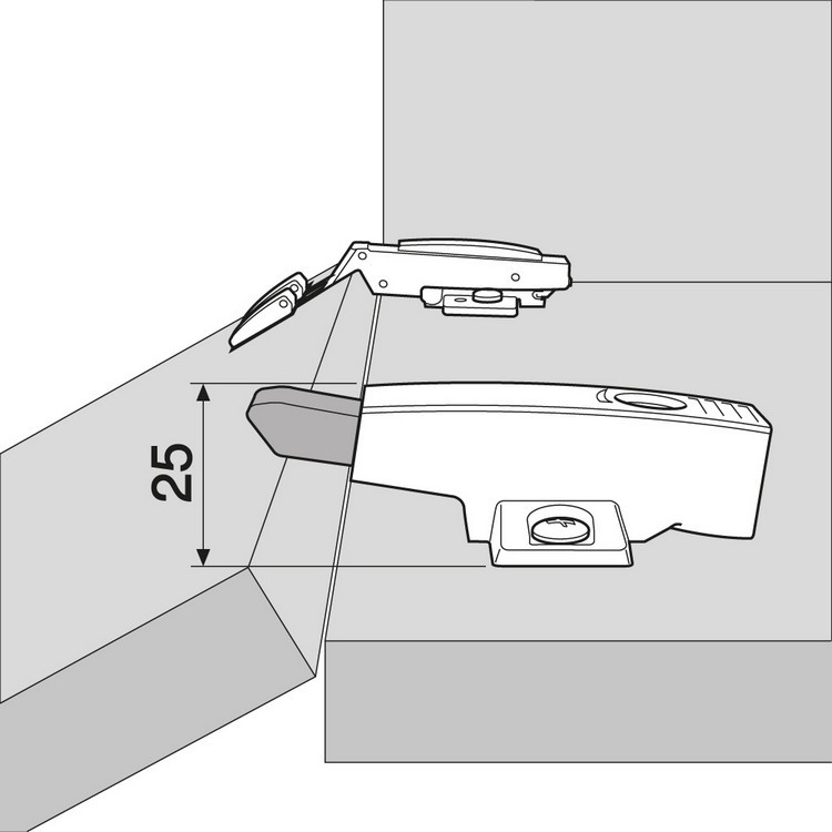 Blum 971A0700 0mm Face Frame Adapter Plate 971A BLUMOTION for Doors :: Image 70