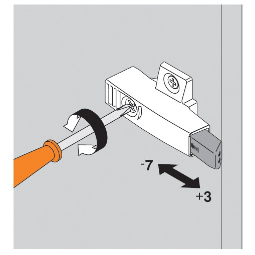 Blum 971A0700 0mm Face Frame Adapter Plate 971A BLUMOTION for Doors :: Image 60