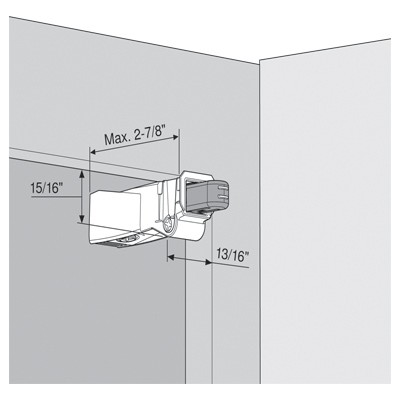 Blum 971A9700 971A BLUMOTION for Face Frame Cabinet, Screw-on :: Image 60