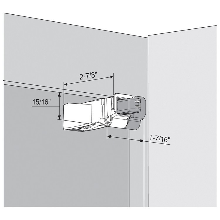 Blum 971A9700 971A BLUMOTION for Face Frame Cabinet, Screw-on :: Image 70