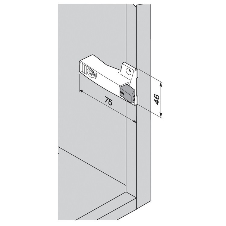Blum 971A0700 0mm Face Frame Adapter Plate 971A BLUMOTION for Doors :: Image 170