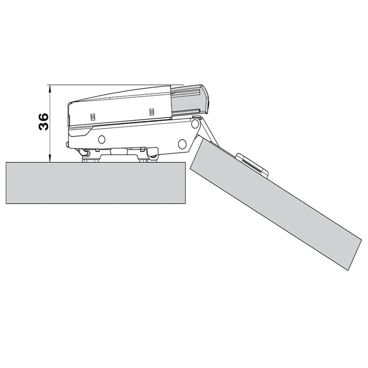 Blum 973A0500.01 973A BLUMOTION for Doors, Full Overlay Hinges :: Image 50