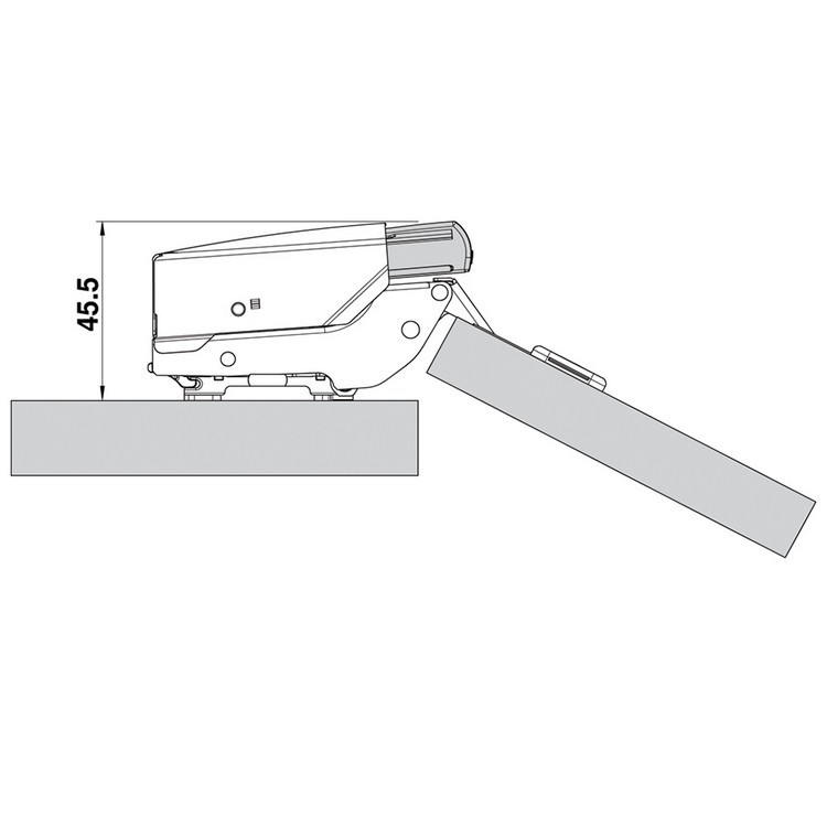 Blum 973A0600 973A BLUMOTION for Doors, Half Overlay Hinges :: Image 20