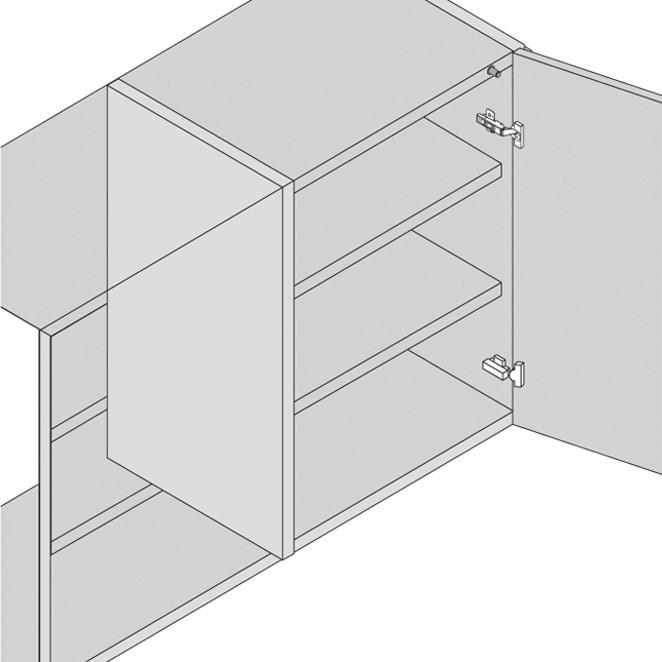 Blum 970.5201 0mm Inline Adapter Plate, :: Image 130