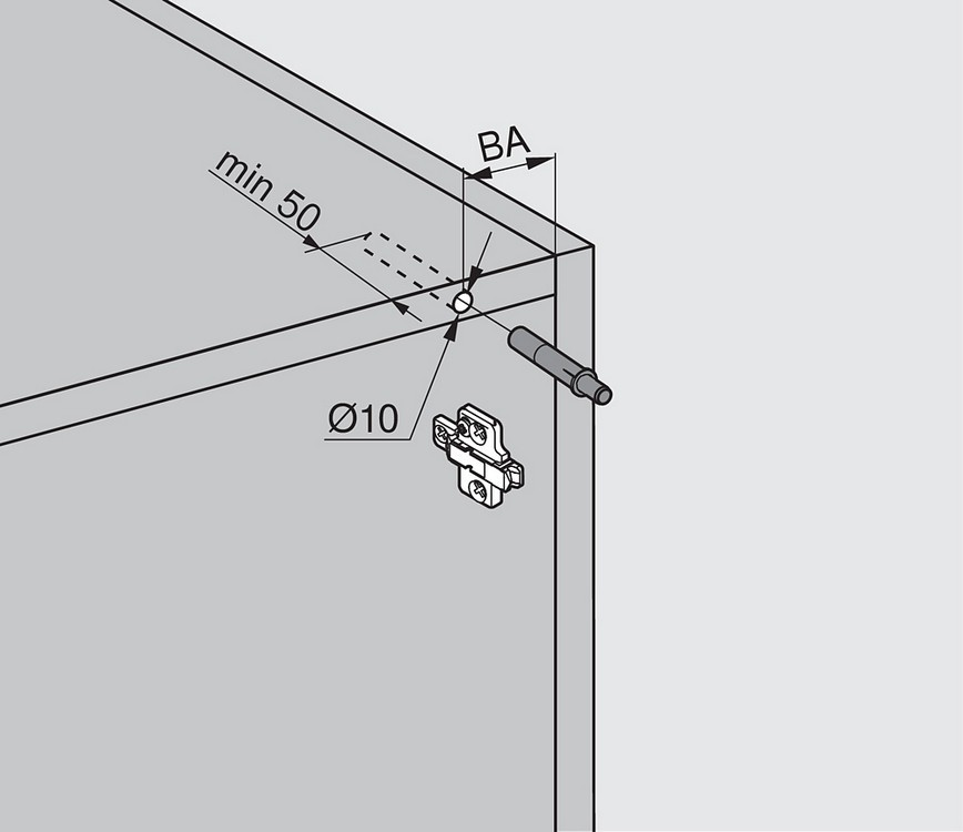 Blum 970A1002 970A BLUMOTION for Doors, Used with Euro Hinges :: Image 70