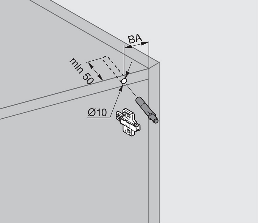 Blum 970A1002 970A BLUMOTION for Doors, Used with Euro Hinges :: Image 30