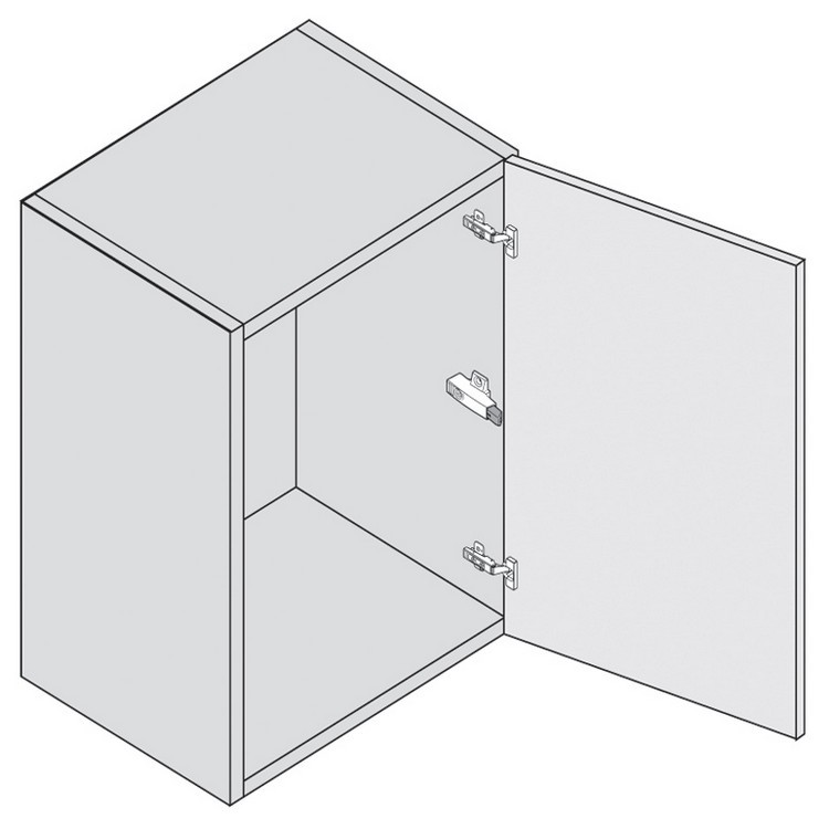 Blum 971A0700 0mm Face Frame Adapter Plate 971A BLUMOTION for Doors :: Image 140