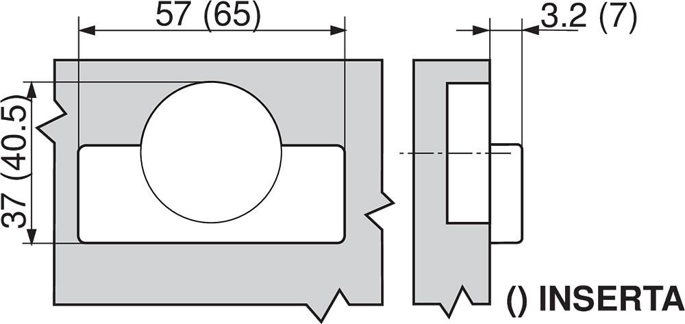 Blum 70M2750.TL 100 Degree CLIP Hinge, Free Swing, Inset, Screw-on :: Image 160