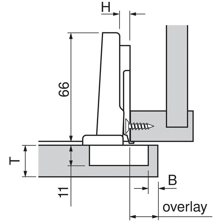 Blum 71M2590B 100 Degree CLIP Hinge, Self-Close, Full Overlay, Inserta :: Image 80