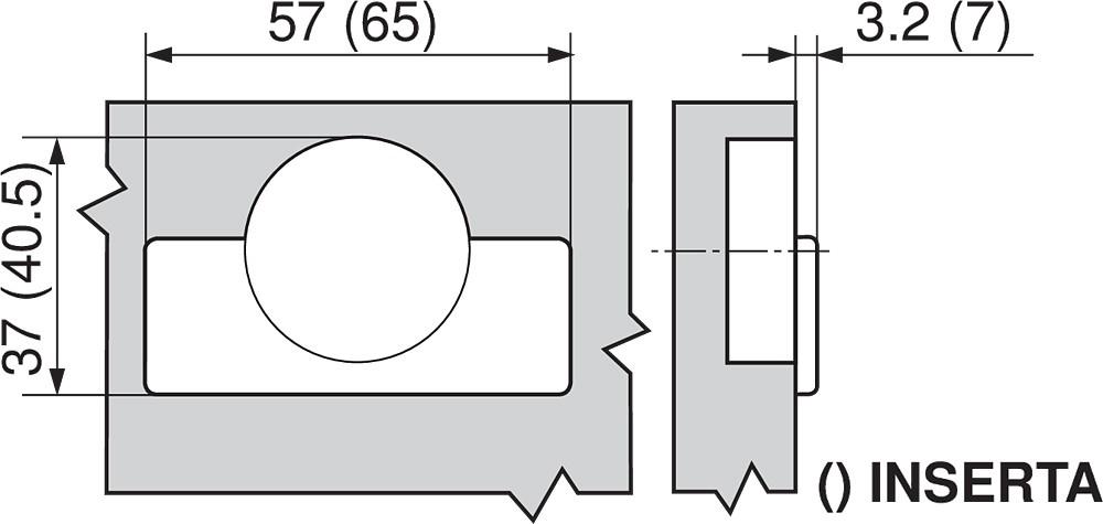 Blum 79T9550 95 Degree CLIP Top Blind Corner Hinge, Self-Close, Inset, Screw-on :: Image 200