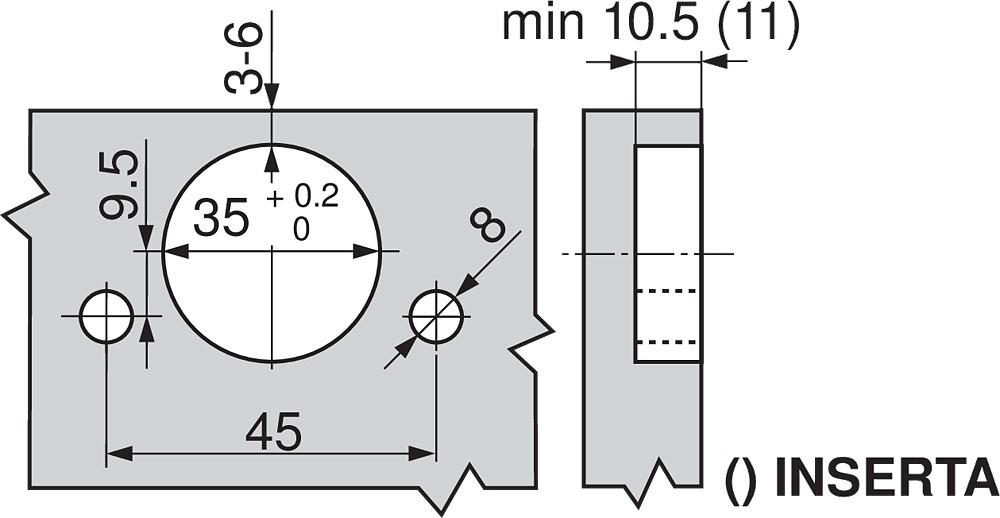 Blum 71M2690B 100 Degree CLIP Hinge, Self-Close, Half Overlay, Inserta :: Image 60