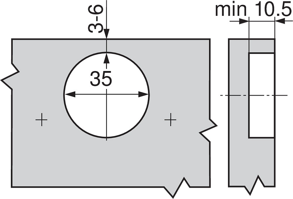 Blum 70M2750.TL 100 Degree CLIP Hinge, Free Swing, Inset, Screw-on :: Image 150