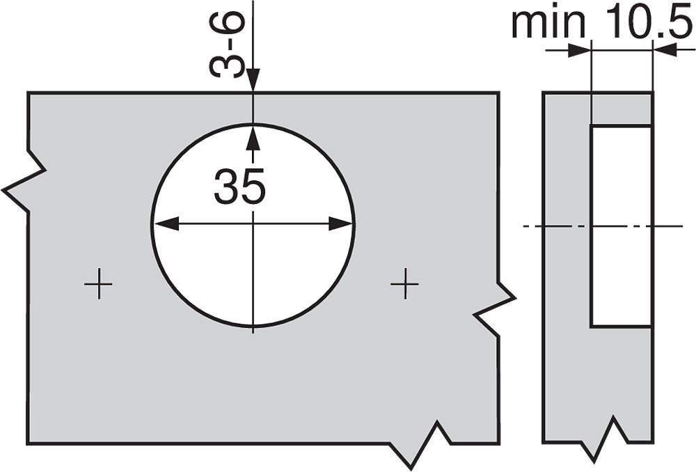 Blum 70M2750.TL 100 Degree CLIP Hinge, Free Swing, Inset, Screw-on :: Image 40