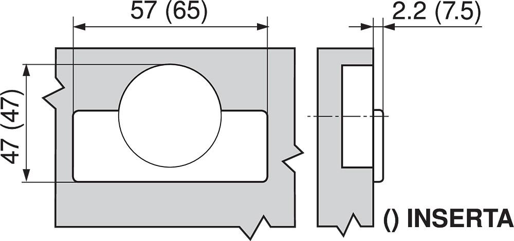 Blum 71T6640B 170 Degree CLIP Top Hinge, Self-Close, Half Overlay, Inserta :: Image 170
