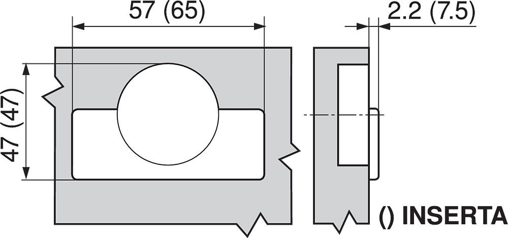 Blum 71T6640B 170 Degree CLIP Top Hinge, Self-Close, Half Overlay, Inserta :: Image 40