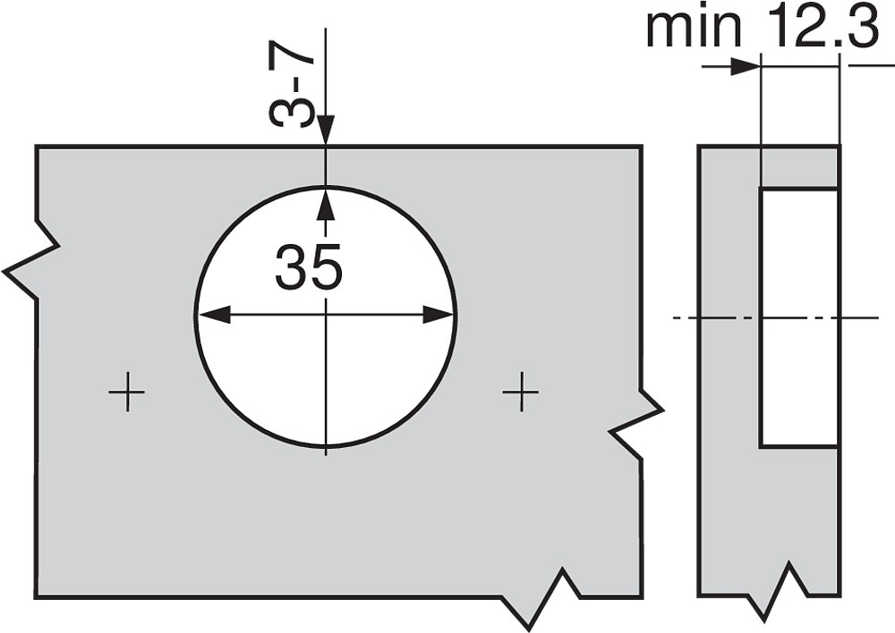Blum 79T9550 95 Degree CLIP Top Blind Corner Hinge, Self-Close, Inset, Screw-on :: Image 190