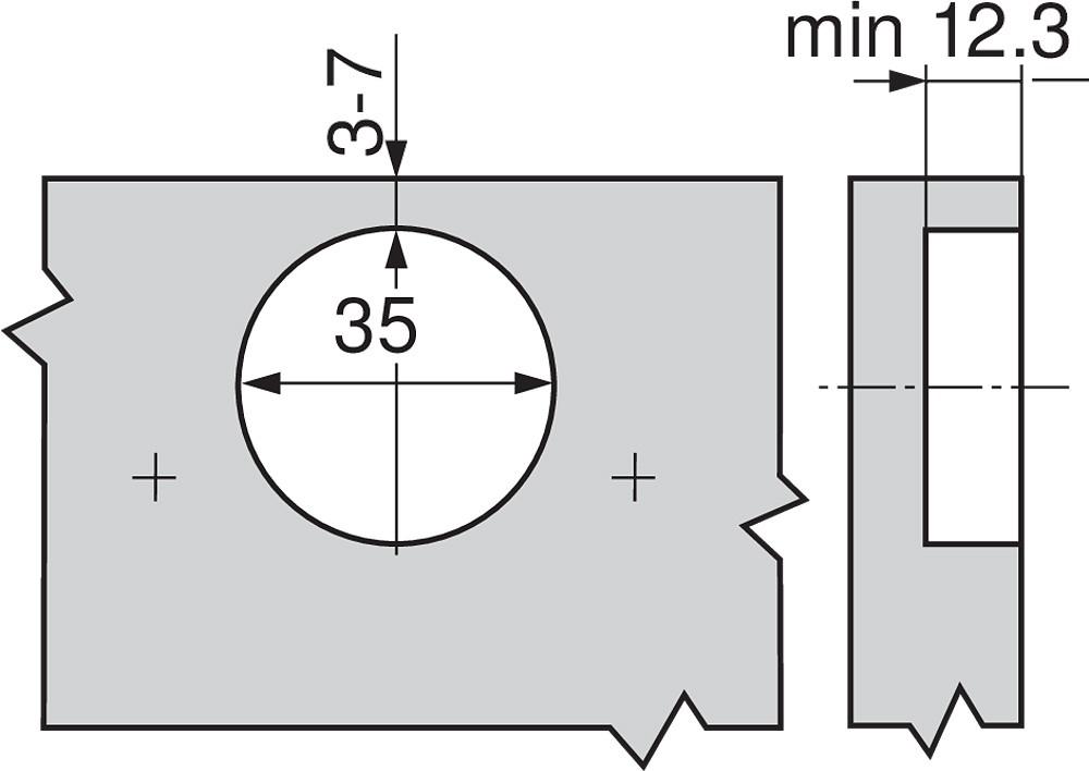 Blum 79T9550 95 Degree CLIP Top Blind Corner Hinge, Self-Close, Inset, Screw-on :: Image 40