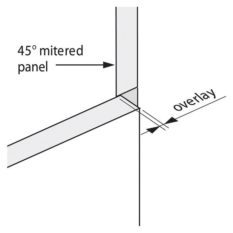 Blum 79T5580 +45 II 110 Degree CLIP Top Hinge, Self-Close, +45 Degree Diagonal, Full Overlay, Dowel :: Image 140
