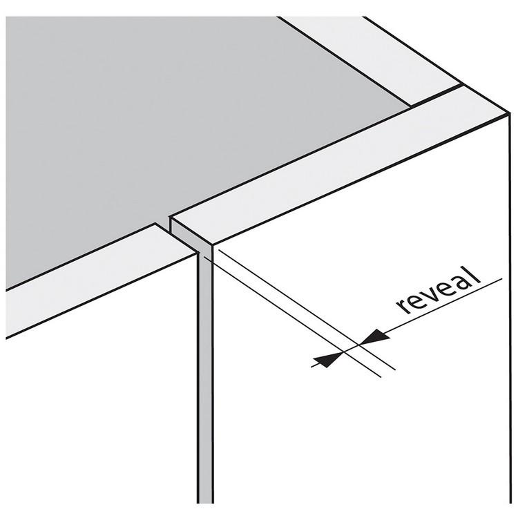 Blum 79T9550 95 Degree CLIP Top Blind Corner Hinge, Self-Close, Inset, Screw-on :: Image 260