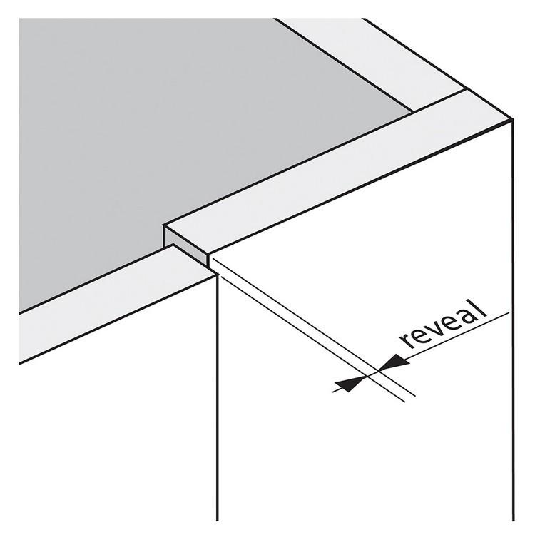 Blum 79T9550 95 Degree CLIP Top Blind Corner Hinge, Self-Close, Inset, Screw-on :: Image 250