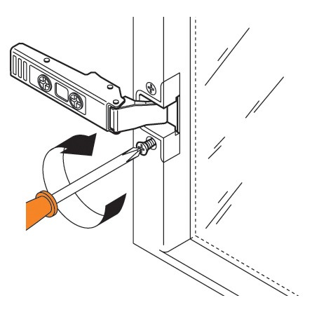 Blum 73T550A 120 Degree CLIP Top Aluminum Door Hinge, Self-Close, Full Overlay, Screw-on :: Image 160