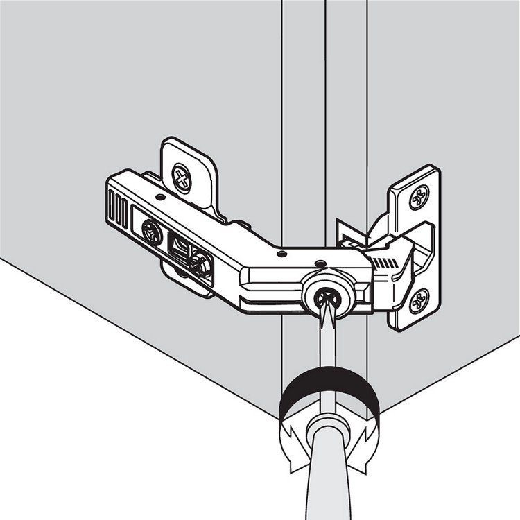 Blum 79T8530.10 60 Degree CLIP Top Bi-Fold Hinge, Self-Close, Dowel :: Image 180