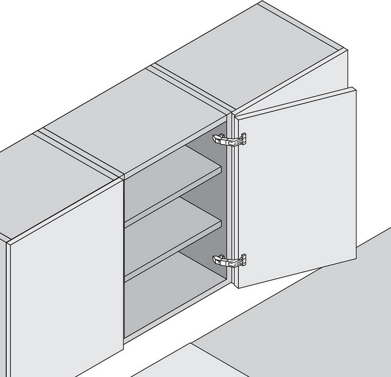 Blum 70T6650.TL 170 Degree CLIP Top Hinge, Free Swing, Half Overlay, Screw-on :: Image 10