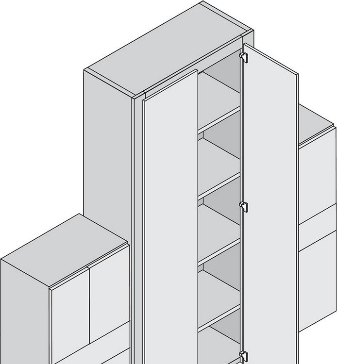 Blum 79T9990B37 95 Degree CLIP Top Blind Corner Hinge, Self-Close, Full Overlay, Inserta :: Image 70