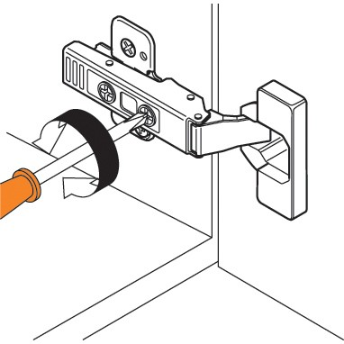 Blum 71T9650 95 Degree CLIP Top Hinge for Thick Door, Self-Close, Half Overlay, Screw-on :: Image 290