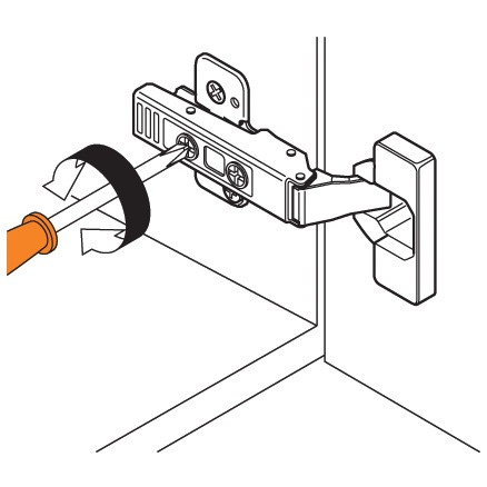 Blum 71T9650 95 Degree CLIP Top Hinge for Thick Door, Self-Close, Half Overlay, Screw-on :: Image 130
