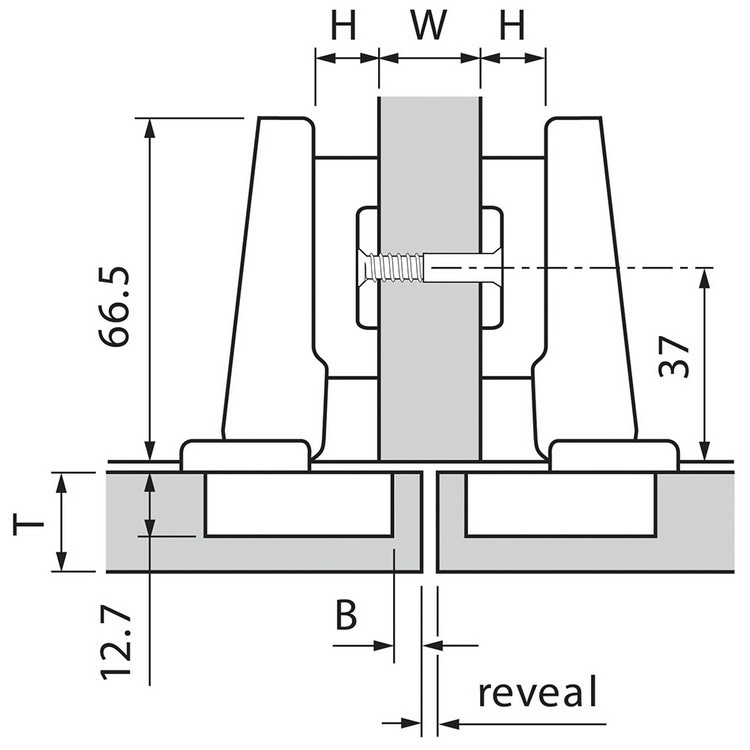Blum 73T5580 120 Degree Plus CLIP Top Hinge, Self-Close, Full Overlay, Dowel :: Image 130