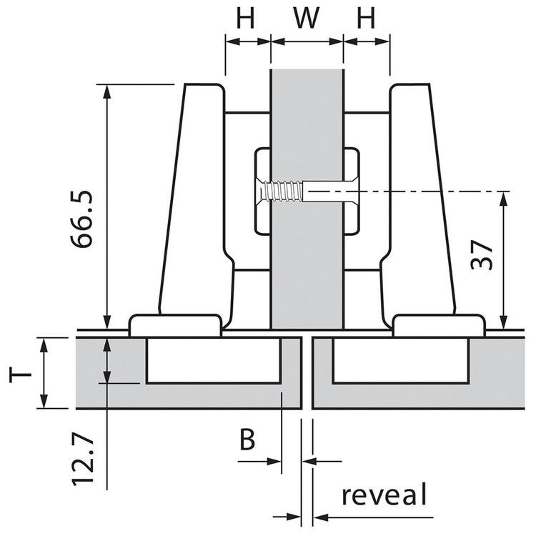 Blum 73T5590B 120 Degree Plus CLIP Top Hinge, Self-Close, Full Overlay, Inserta :: Image 130