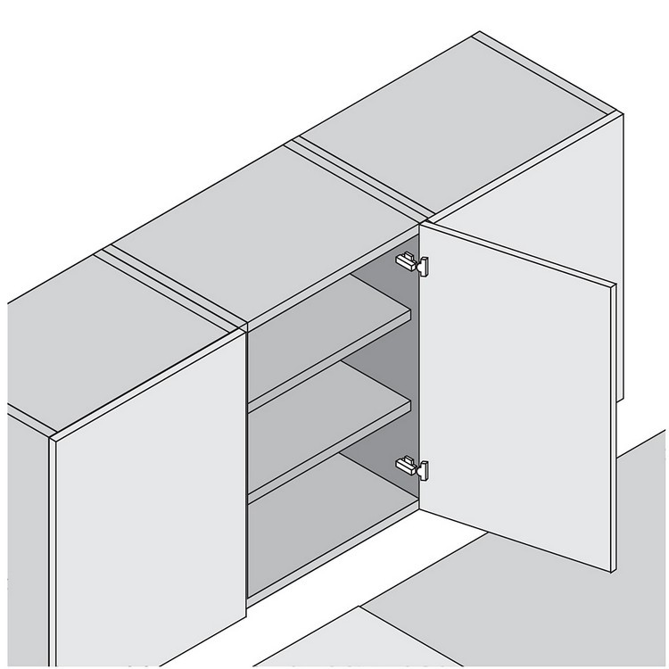 Blum 73T558E 120 Degree Plus CLIP Top Hinge, Self-Close, Full Overlay, Expando :: Image 150