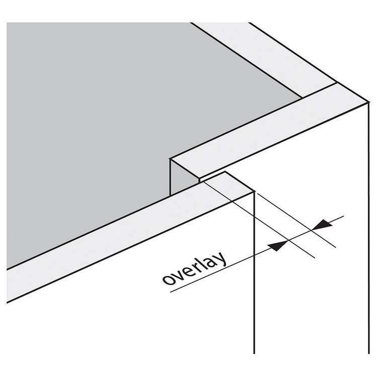 Blum 79T9990B37 95 Degree CLIP Top Blind Corner Hinge, Self-Close, Full Overlay, Inserta :: Image 260
