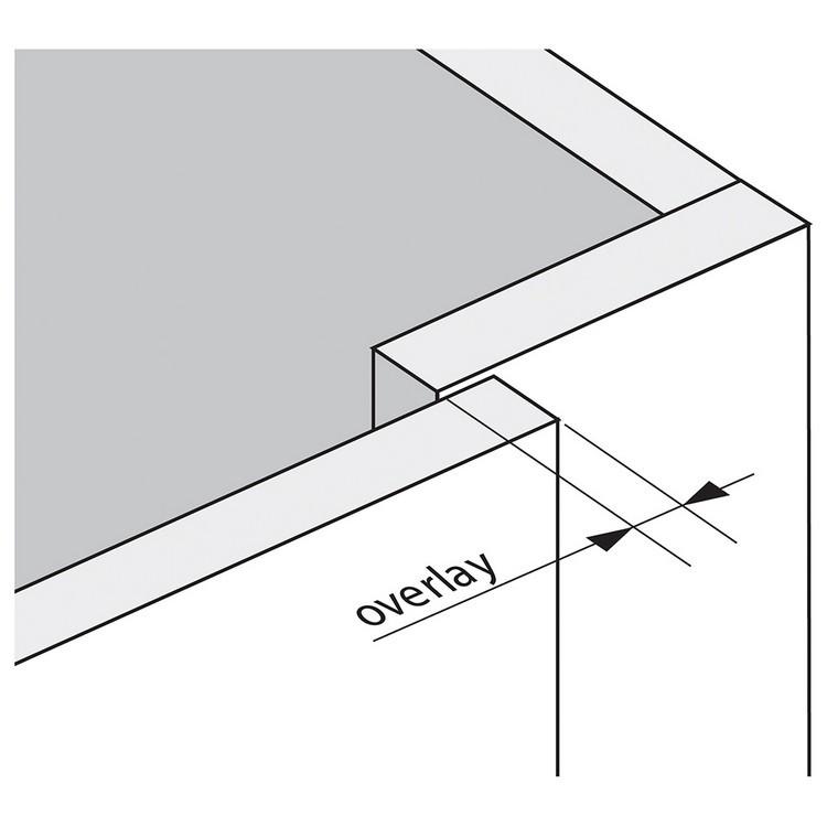 Blum 79B9980 95 Degree CLIP Top BLUMOTION Blind Corner Hinge, Soft-Close, Full Overlay, Dowel :: Image 10
