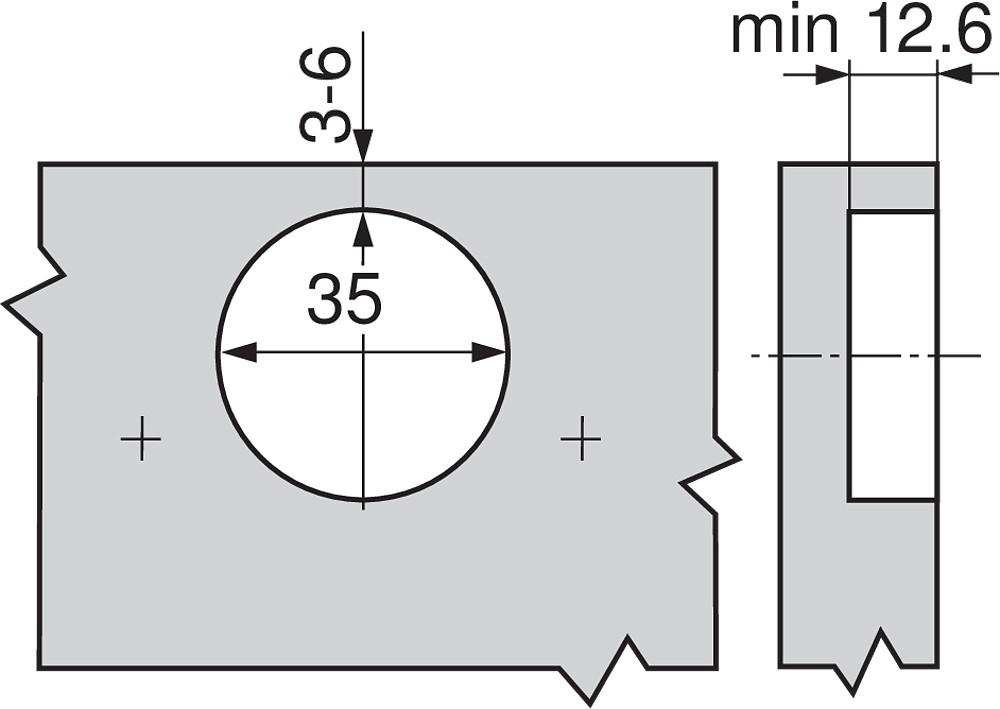 Blum 79A5490BT 110 Degree CLIP Top Hinge, Self-Close, -45 Degree Diagonal, Inserta :: Image 130